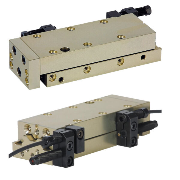 Norelem 20034 Linear modules pneumatic with rail guide