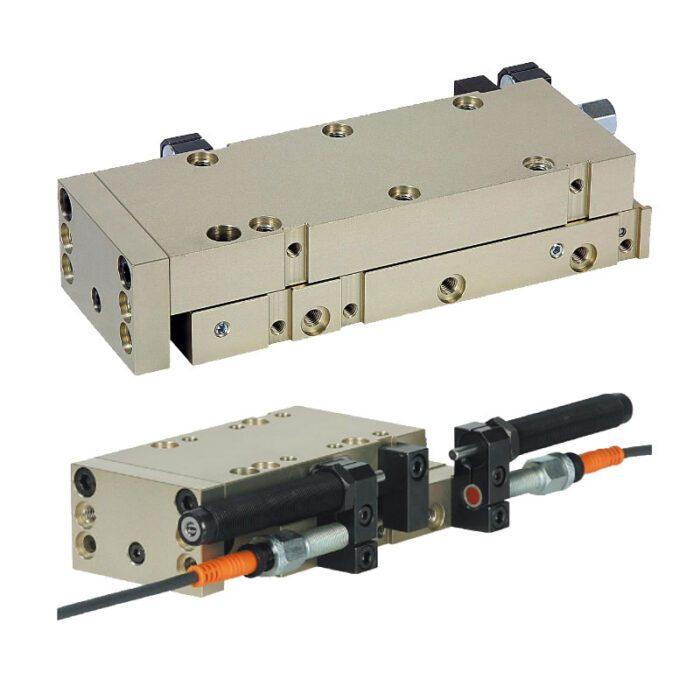 Norelem 20036 Linear modules pneumatic with rail guide