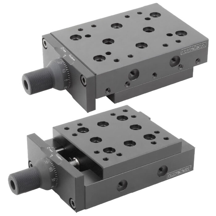 Norelem 21010 Dovetail slides with micrometer spindle and location holes