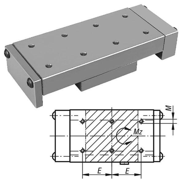 Norelem 21031 Dovetail slides with end plates