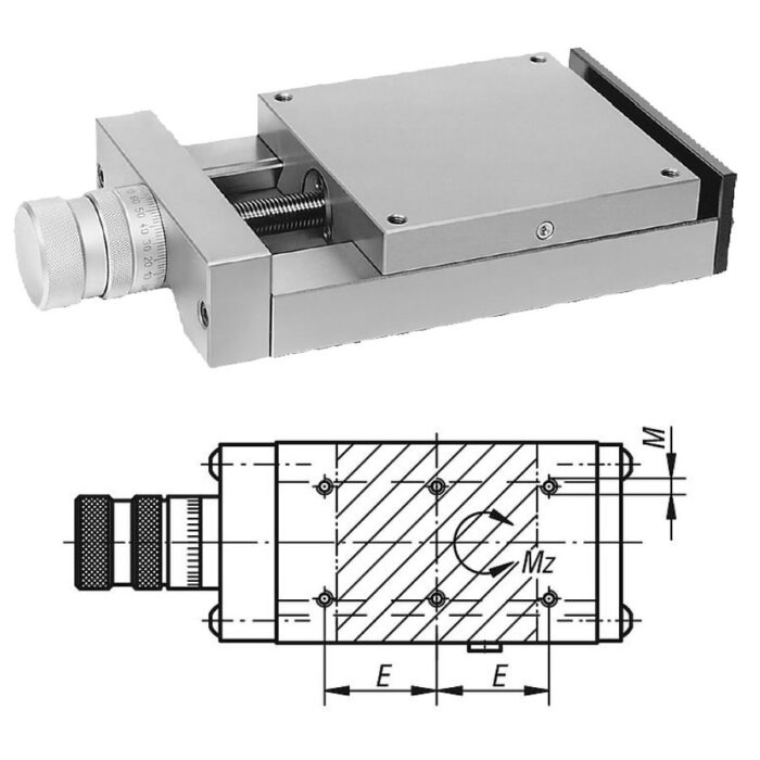 Norelem 21032 Dovetail slides with micrometer spindle
