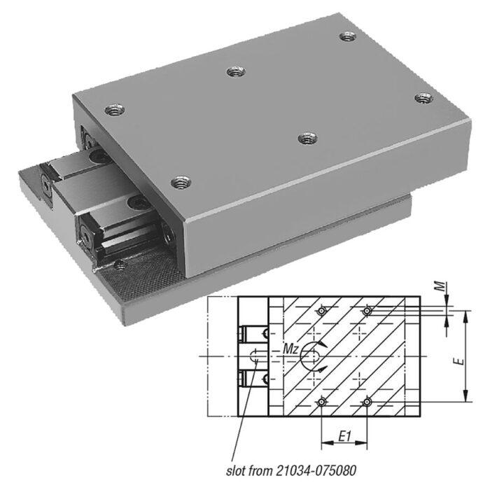 Norelem 21034 Precision slides roller mounted