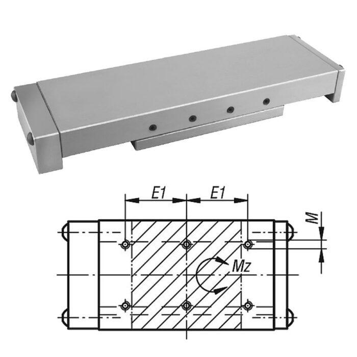 Norelem 21038 Precision slides roller mounted with end plates
