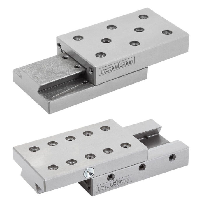 Norelem 21060 Dovetail slides with location holes