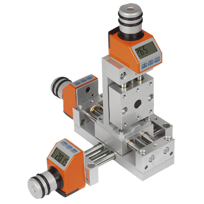 Norelem 21104 Positioning stages, short with electronic position indicator