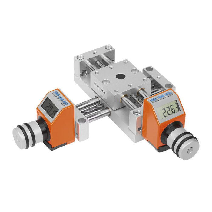 Norelem 21124 Positioning stages, long with electronic position indicator