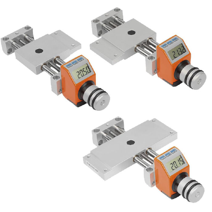 Norelem 21137 Cross slides, long with electronic position indicator